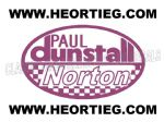 Paul Dunstall Norton Tank and Fairing Transfer Decal D20084A-6